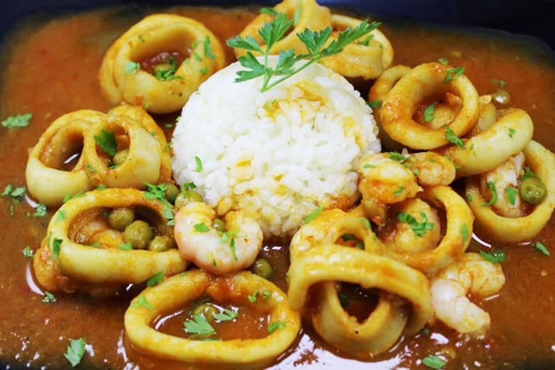 Calamares a la marinera olla gm   Cocina y recetas fáciles