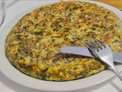 Tortilla de espinacas con jamon